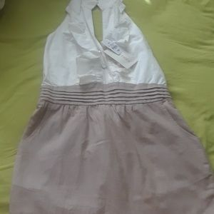 Cream and wheat dress